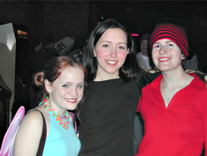 From left: Lauren, Cheri and me in 2002 at the State Palace Theatre.