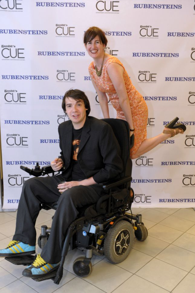 With Jonah at a Rubensteins/CUE event in 2011. Photo by Cheryl Gerber